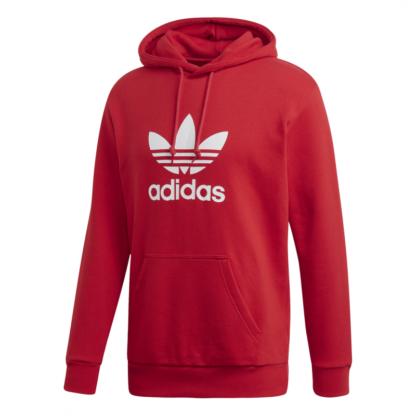 adidas-originals-felpa-trefoil-hoodie-rosso-uomo